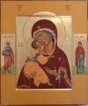 Madre di Dio di Vladimir con santi Gioachino e Anna