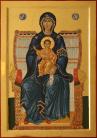 Madre di Dio in trono (Panaghia) (cm 35x50, 2013)