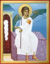 Angelo Bianco del Monastero di Mileševa  ( Cragan Jovanovic, icona contemporanea)