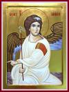 Angelo Bianco del Monastero di Mileševa  ( Aleksandra Graovac, icona contemporanea)