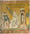 Angelo della risurrezione, mosaico parietale, Monreale (ante 1189)