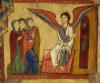 Particolare della Croce di Rosano, le Marie al sepolcro. (XII secolo),