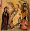 Particolare della Croce di Teregliol le pie donne al sepolcro. (XIII secolo)