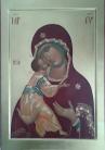 Madre di Dio della Tenerezza versione Rublev (per mano di Maria Crespi Marciandi)