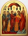 Presentazione al tempio (per mano di Giuliana Scandroglio cm 56x70)