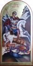 Giorgio e il drago (per mano di Giuliana Scandroglio cm 26x51,5)