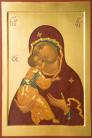 Madre di Dio della Ternerezza da Rublev (per mano di Maria Crespi Marciandi, cm 50x72)