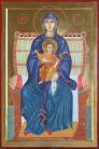Madre di Dio in trono Panaghia (Per mano di Augusta Daverio)