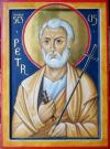 San Pietro (per mano di Mara Zanette, encausto, cm 32X43)