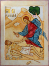 Buen-Samaritano-Acrílico-sobre-madera-24x23-min