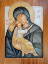 Virgen-de-la-ternura-Acrílico-sobre-madera-28x36-min