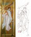 Angelo custode icona e grafia (2016 cm 50x21)