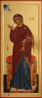 Annuniciazione: Vergine annunciata (2011, cm 45x105) through the hand of Giuliano Melzi