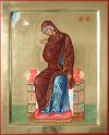 Annunciazione: Vergine annunciata (2008, cm 30x37) through the hand of Giuliano Melzi