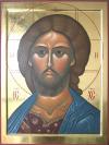 "Cristo ""occhio ardente"" (2008, cm 45x60, 2007)   through the hand of Giuliano Melzi"