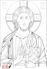 Cristo Salvatore del Chilandari (2012, 30x43 - grafia) through the hand of Giuliano Melzi