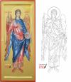 Gabriele santo angelo icona e grafia (2019, cm 48x21) through the hand of Giuliano Melzi