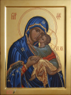 Madre di Dio Eleousa (2012, cm 30x40) through the hand of Giuliano Melzi