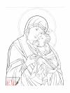 Madre di Dio Eleousa grafia (2012, cm 30x40 2012) through the hand of Giuliano Melzi
