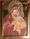 """Madre di Dio """"Eleousa"""" (dal Monastero di Decani) (2008, cm 36x48) through the hand of Giuliano Melzi"""