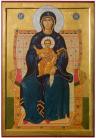 """Madre di Dio """"Tuttasanta"""" (2012, cm 47x70) through the hand of Giuliano Melzi"""