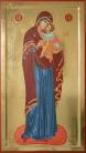 """Madre di Dio """"Eleousa"""" (dal Monastero di Decani) (2008, cm 45x80) through the hand of Giuliano Melzi"""