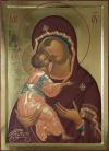 Madre di Dio di Vladimir (da Rublev) (2010,  cm 50x72) through the hand of Giuliano Melzi