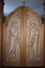 Monastery of St Dionyse the Areopagite - Chapel iconostasis by fr. Silouan Justiniano