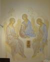 Trinità (2019, pittura murale,  cappella privata,  Monastero Janua Coeli di Cerreto di Sorano)