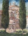 Mount-Athos-Hilandar-Monastery-Cypresses_watercolor_37x27cm_2016
