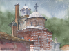 Mount-Athos-Hilandar-Monastery-St-George-Dome-and-Baroque-Dome_watercolor_27x37cm_2016