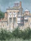 Mount-Athos-Hilandar-Monastery-south-view_watercolor_37x27cm_2016