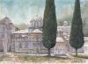 Mount-Athos-Hilandar-Monastery_watercolor_27x37cm_2017