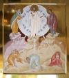 Trasfigurazione di Gesù (tempera all'uovo su tavola dorata a bolo, 90x80 CM, 2018)