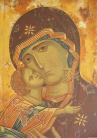 Madre di Dio di Vladimir ((acrilico su tela, 80x50 CM, 2014, particolare)