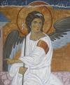 Angelo bianco Gabriele arcangelo (acrilico su tela 35x30, 2018)