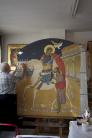 san Martino e il povero - entrata locali Fiere San Martino Piazzola sul Brenta (PD)