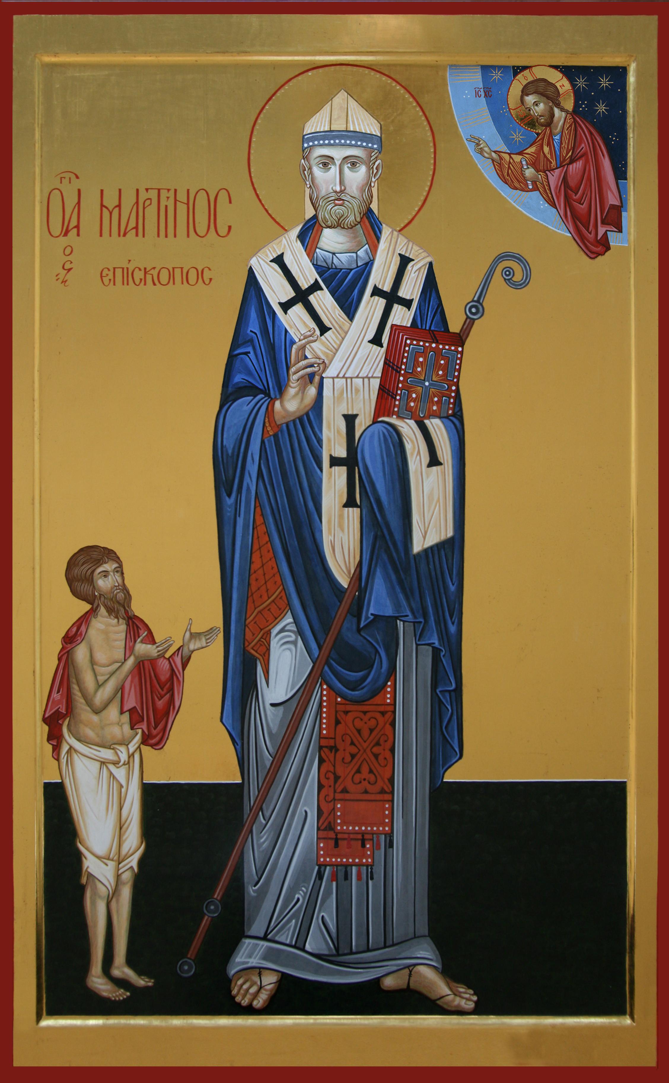 San Martino Vescovo Nella Chiesa Parrocchiale Di San Martino In Niguarda Milano Iconecristiane It